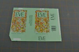 Eve Menthol Cigarettes For Box Vintage Paper Label Ephemera