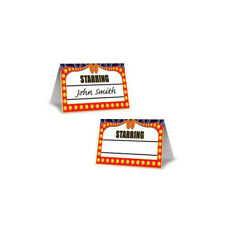 Movie Night Place Cards, Table Cards, Lot 3 Packs (24 cards), Name Cards