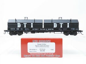 HO Scale Red Caboose RR-32506-11 DTI Detroit Toledo & Ironton Coil Car #1392