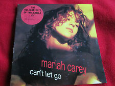 "Mariah Carey ‎Can't Let Go 657662Stickered Picture Sleeve UK 7"" Vinyl Single 45"