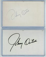 (2) Johnny Oates Index Card Signed Player & Manager Orioles Psa/Dna 1946-2004
