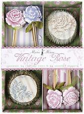 Meri Meri Vintage Rose Cupcake Kit Pack of 24