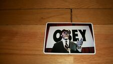 THEY LIVE OBEY STICKER HORROR