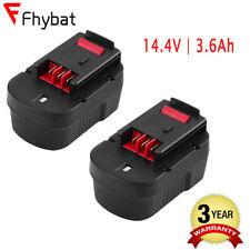 3600mAh Replce for Black and Decker 14.4 Volt Battery HPB14 FS140BX FS140BX 2PCS