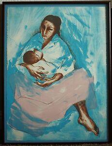 Navajo Artist, R.C. Gorman Framed Signed Limited Edition Original Lithograph