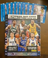 2019-20 PANINI NBA STICKERS 10 PACKS WITH 5 STICKERS PER PACK WITH BOOK