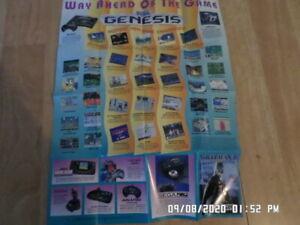 Sega Genesis / Game Gear (1991) Sonic The Hedgehog 2 Promo Poster / Insert