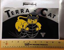 Terra-Cat mini bike frame fork plate decal sticker terra cat