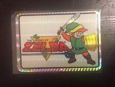 Vtg 1990 The Legend of Zelda LINK Prismatic Vending Machine Sticker NINTENDO 80s