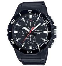 Casio Men's Resin Watch, 3-Eye Dial, Oversized, 100 Meter, Day/Date, MRW400H-1AV