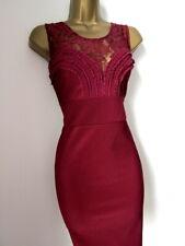 Brand new Lipsy merlot lace bodycon dress size 12.
