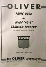 Oliver Cletrac Dozer Crawler Tractor A AG-6 AG-6H Parts Manual120pg F-226 Engine