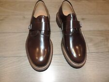 Giorgio Armani Brown Leather Buckle Extralight Shoes 9 US 42, 8 UK  X2L102