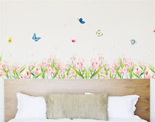 Flowers Garden Room Decor Removable Wall Stickers Decal Decoration Wandtattoos