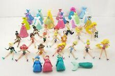 Magiclip Polly Pocket Lot of 43 Parts, 23 Figures, Disney Princess, Ariel, Snow