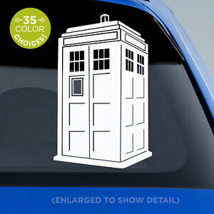 Doctor Who TARDIS decal - 3D blue police box Tardis sticker - for Dr. Who Fans