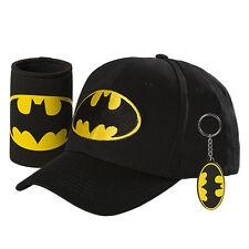 123890 SET OF 3 BATMAN GIFT PACK HAT STUBBY HOLDER KEYRING SUPERHERO KEY RING