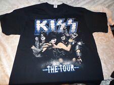 Kiss The Tour Oslo 2012 Makeup Band Image Black Official T Shirt XL