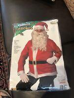 Santa Claus Jacket Accessory Costume Set Adult Standard, HAT, BELT & JACKET T