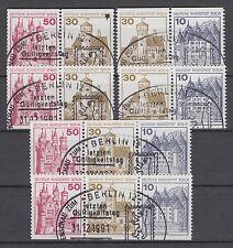 Berlin Zusammendruck gest W 61 - W 66 aus MH 13 Burgen & Schlösser Sonderstempel