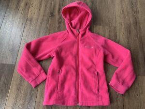 Columbia Girls Fleece, XS (6), Pink, Hooded, Zip Up, EUC