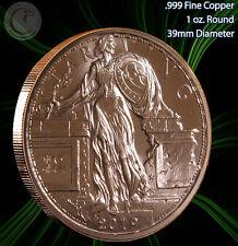"New listing ""Starving Liberty"" 1 oz .999 Copper Round Zombucks Series 2019"