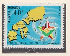 (TOB-97) 1973 Togo 40F 15th anniversary of council of accord MH