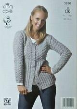King Cole Ladies Cardigans Smooth Knitting Pattern 4165  DK... Free UK P/&P