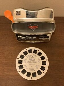 1998 Fisher Price Disney Pixar Cars VIEW-MASTER W/ Rudolph Disc Silver Chrome