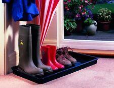 Garland Black Plastic Boot Tray Sturdy Wellington Welly & Shoe Storage