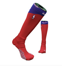 New Nike 2XL NBA Authentics Team Issue Detroit Pistons Basketball Calf Socks Red