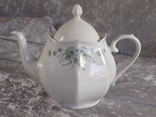 Scherzer Porzellan Teekanne Teeservice Blumen Ranke Inglasur