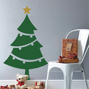 CHRISTMAS TREE - Window Wall Vinyl Decal Sticker, any colour Type 2 (L)