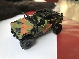 1998 Matchbox Camo Humvee with Pop Up Guns 10395 Mattel Military Army 4x4 Car