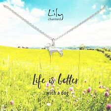 Lily Charmed Sausage Dog Sterling Silver Necklace