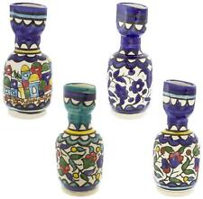 More details for armenian ceramic havdalah candle holder 12cm shabbat jewish sabbath