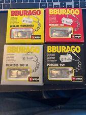 Burago Diecast Key Rings Set Of 4 Rare