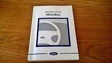 Ford MONDEO Mk2 Owners Manual Handbook
