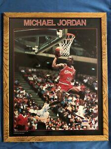 "🌟Vintage Original 1988 Starline Michael Jordan Framed Poster 16"" x 20"" RARE🌟"