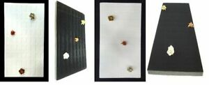72 Slot Ring Foam Jewelry Tray Insert Display Pad Liner Black & White 2 Designs