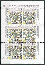 Portugal - Azulejos (IV) Kleinbogen postfrisch 1981 Mi. 1548