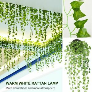 2M 20LED Leaves Ivy Leaf Garland Fairy String Lights Party Garden Decor Lamps
