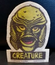 """Vintage Creature From The Black Lagoon Iron On Patch Head 3.75"""" Rare Japan"""