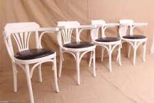 4 Bugholz Armlehnenstühle Wiener Cafehaus Stühle Bistrostühle 20er Stil Weiss 20