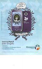 "PUBLICITE ADVERTISING  2009  LOLITA LEMPICKA pour Samsung ""ALLO , LOLITA ? """