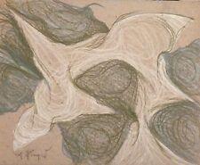 Andre Pierret dessin pastel signé Bruxelles expressionnisme Paul Delvaux