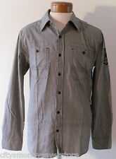 NWT Xtreme Couture Shield Mens L/S Button-Front Shirt Grey L MSRP$60