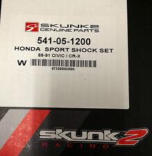 Skunk2 Sport Shocks 89-91 Honda Civic CRX  EF Front & Rear Set 541-05-1200