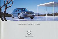 Mercedes E-Klasse Prospekt 2002 1/02 brochure W 211 1A-QUALITÄT + VERPACKUNG