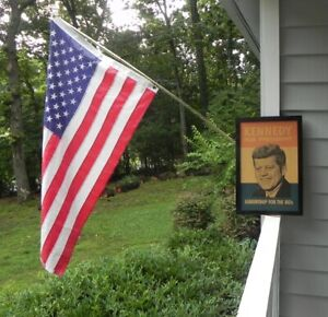"""Original1960 KENNEDY For President """"Leadership ForThe 60s"""" Campaign Poster Board"""